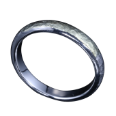 【龍頭】<br>甲丸岩石丸鎚目リング 幅3mm<br />シルバー×K18<br />- メンズ 指輪 リング -