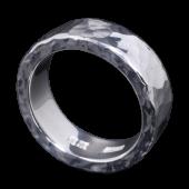 【龍頭】<br>丸鎚目リング<br />7mm幅 3mm厚<br />- メンズ 指輪 リング -