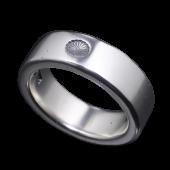 【龍頭】<br>菊平打ちリング<br />7mm幅 3mm厚<br />- メンズ 指輪 リング -