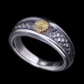【龍頭】<br />金菊紋鱗リング<br />- メンズ 指輪 リング -
