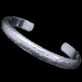 【龍頭】<br>甲丸岩石丸鎚目バングル<br />8mm幅<br />- メンズ バングル -