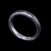 【龍頭】<br>籠目鎚目リング 幅3mm<br />燻し加工<br />- メンズ 指輪 リング -