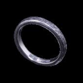 【龍頭】<br>小花鎚目リング 幅3mm<br />燻し加工<br />- メンズ 指輪 リング -