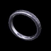 【龍頭】<br>渦鎚目リング 幅3mm<br />燻し加工<br />- メンズ 指輪 リング -