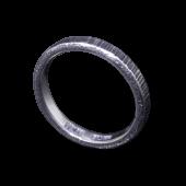 【龍頭】<br>ゴザ目鎚目リング 幅3mm<br />燻し加工<br />- メンズ 指輪 リング -