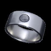 【龍頭】<br />菊平打ちリング 10mm幅<br />- メンズ 指輪 リング -