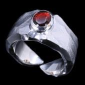 【龍頭】<br>岩石矢尻リング 石付き<br />- メンズ 指輪 リング -