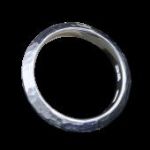 【龍頭】<br>三角丸鎚目リング 幅5mm<br />- メンズ 指輪 リング -