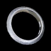 【龍頭】<br>三角岩石鎚目リング 幅5mm<br />- メンズ 指輪 リング -