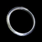 【龍頭】<br>三角丸鎚目リング 幅3mm<br />K18×シルバー<br />- メンズ 指輪 リング -