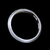 【龍頭】<br>三角岩石鎚目リング 幅3mm<br />- メンズ 指輪 リング -