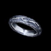 【龍頭】<br />平打ち火焔リング<br>燻し仕上<br />- メンズ 指輪 リング -