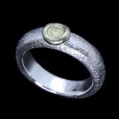 【龍頭】<br>甲丸岩石菊リング<br />菊:K18 <br />- メンズ 指輪 リング -