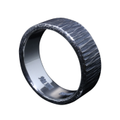 【龍頭】<br />ゴザ目鎚目リング<br />- メンズ 指輪 リング -