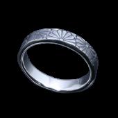 【龍頭】<br />乱菊平打ちリング 幅5mm<br />- メンズ 指輪 リング -