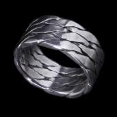 【龍頭】<br />ツイストトリプルリング<br />- メンズ 指輪 リング -