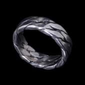 【龍頭】<br />ツイストダブルリング<br />- メンズ 指輪 リング -