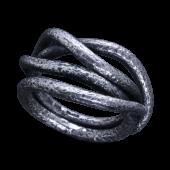 【龍頭】<br />岩石鎚目リング(蔦)<br />- メンズ 指輪 リング -