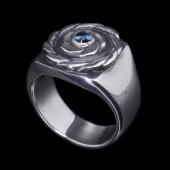 【龍頭】<br />ツイスト印台リング<br />- メンズ 指輪 リング -