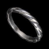 【龍頭】<br />甲丸ツイストリング<br />- メンズ 指輪 リング -