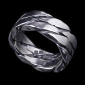 【龍頭】<br>ツイストダブルリング<br />- メンズ 指輪 リング -
