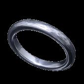 【龍頭】<br />甲丸チリ目鎚目リング<br />- メンズ 指輪 リング -
