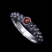 【龍頭】<br />霰リング 石付<br />- メンズ 指輪 リング -