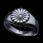 【龍頭】<br />菊印台リング(丸型)<br />- メンズ 指輪 リング -