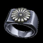 【龍頭】<br />菊印台リング<br />菊:真鍮<br />- メンズ 指輪 リング -