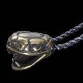 【龍頭】<br />蛇頭ペンダントトップ<br>真鍮<br />- メンズ ペンダント -