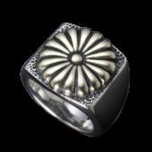 【龍頭】<br />菊印台リング<br>菊:真鍮<br />- メンズ 指輪 リング -