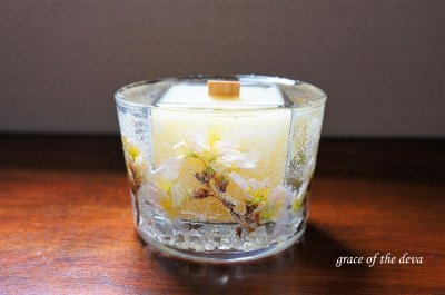 Sakura Botanical candle -beewax circle-