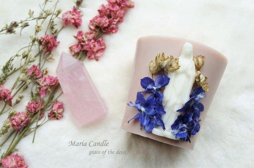 Maria & Rose quartz(ブラウン)