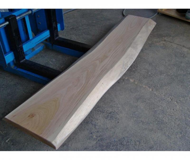 欅(ケヤキ)の無垢一枚板  長さ155cm 幅33~35.5 厚さ3.6cm 看板木材52