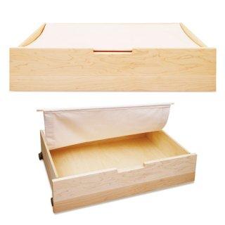 木と風 ベッド下収納ボックス - メープル