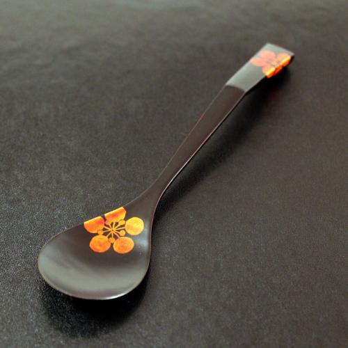 梅のお花の栃スプーン 小(桐箱入り)