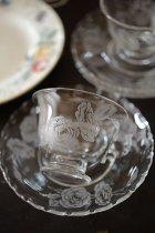 ガラスのカップ&ソーサー(在庫:5客→2客)