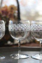 カットガラスのシェリーグラス(在庫:4個)