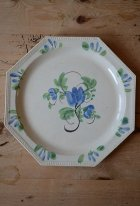 ファイアンスフィーヌの絵皿
