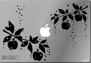 WOLFING 13インチ15インチ対応MacBook ステッカー スキンシール アートステッカー 雨雫のりんご ブラック<img class='new_mark_img2' src='//img.shop-pro.jp/img/new/icons12.gif' style='border:none;display:inline;margin:0px;padding:0px;width:auto;' />