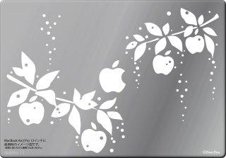 オーダーメード対応★13インチ15インチ17インチMacBook 対応 アートステッカー 雨雫のりんご スタイリッシュな白<img class='new_mark_img2' src='https://img.shop-pro.jp/img/new/icons12.gif' style='border:none;display:inline;margin:0px;padding:0px;width:auto;' />