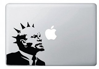 WOLFING MacBook ステッカーオーダーメード対応★アートステッカー Banksy バンクシー Punk Rock Lenin パンクロックレーニン 13インチ15インチ ブラック<img class='new_mark_img2' src='https://img.shop-pro.jp/img/new/icons59.gif' style='border:none;display:inline;margin:0px;padding:0px;width:auto;' />