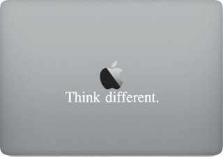 WOLFING MacBook ステッカー オーダーメード対応★ アートステッカー スキンシール Steve Jobs スティーブ・ジョブズ Think different ホワイト<img class='new_mark_img2' src='https://img.shop-pro.jp/img/new/icons12.gif' style='border:none;display:inline;margin:0px;padding:0px;width:auto;' />