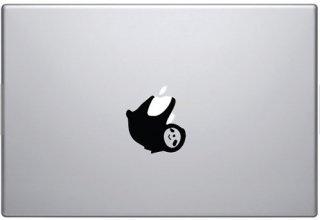 WOLFING MacBook ステッカー オーダーメード対応★アートステッカー スキンシール  Sloth ナマケモノ ブラック