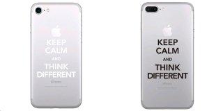 オーダーメード対象★全機種 iPhone 対応 アートステッカー スキンシール Keep Calm and Think Different  ブラック or ホワイト