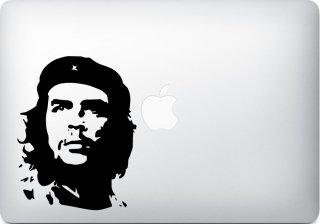 WOLFING MacBook ステッカー オーダーメード対応★アートステッカー スキンシール チェ ゲバラ シルエット ブラック