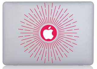 WOLFING 全サイズ対応 MacBook ステッカー オーダーメード対象 アートステッカー Strawberry Flush ストロベリー フラッシュ ストロベリーピンク