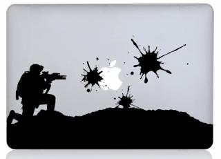 WOLFING 全サイズ対応 MacBook ステッカー アートステッカー スキンシール Battle Field バトルフィールド ブラック
