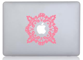 WOLFING 全サイズ対応 MacBook ステッカー アートステッカー スキンシール French Pink ピンク