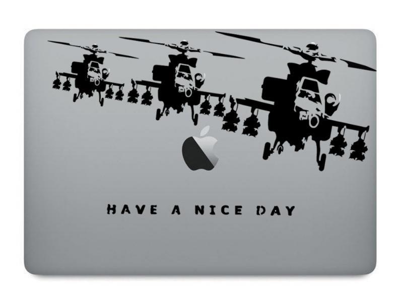 バンクシー: MacBook ステッカー アートステッカー スキンシール Banksy バンク